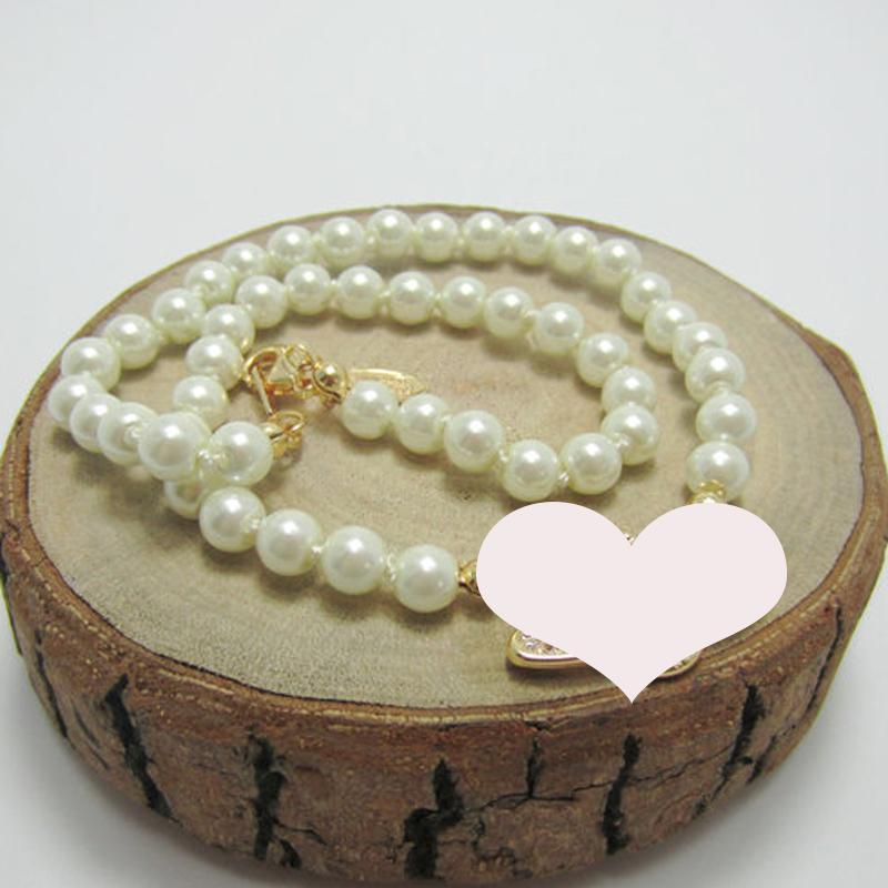 Frauen Perlen-Ketten-Halskette Strass Orbit hängende Halskette für Geschenk-Partei Modeschmuck Accessoires High Quality
