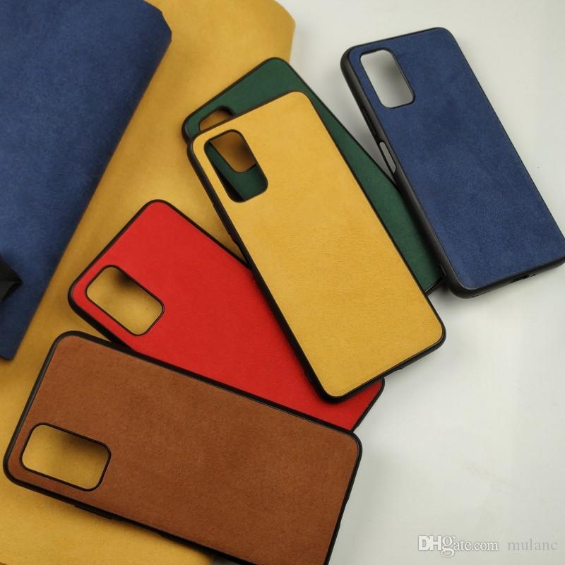 TPU + جلد بدوره الفراء الفاخرة الهاتف القضية مصمم لسامسونج S9 S10 S20 زائد فون فائقة 11pro ماكس XSMAX