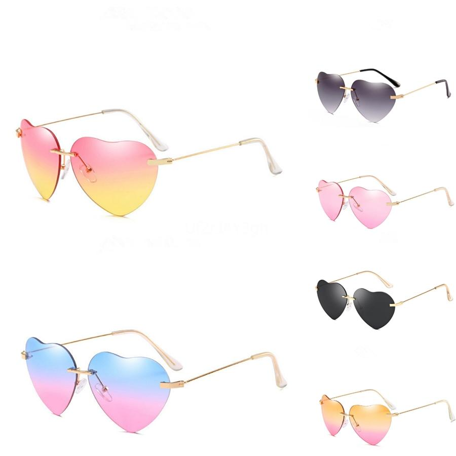 Cat Eye Heart-Shaped Sunglasee For Women Europa Ae Estados Statnd Thes Fashion Trend Cat Eye Heart-Shaped Sunglasee Metal Cor Film Glasses N