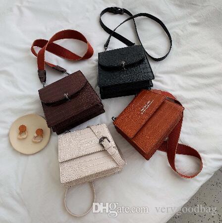 Modelo de piedra de color sólido del hombro bolsos de viaje pequeña de las mujeres 2020 de la moda bolsa de mensajero de la manera y monederos paquete de calidad de lujo