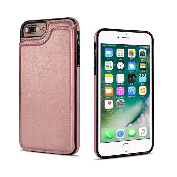 محفظة حقيبة جلدية مع فتحات بطاقة بطاقة ضئيلة متعدد الوظائف فوليو معرف نافذة صدمات TPU غطاء ل iphonex XS XR XS MAX 7 8 6 6S Plus