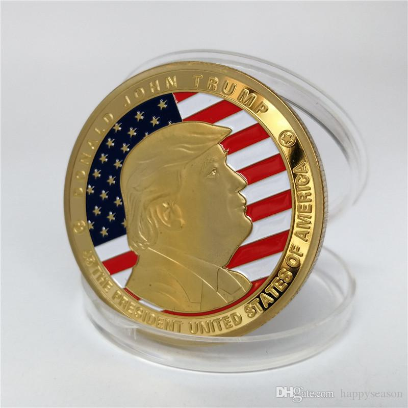 Gold Coin President Donald Trump Coin The Statue of Liberty Coin CollectiTS