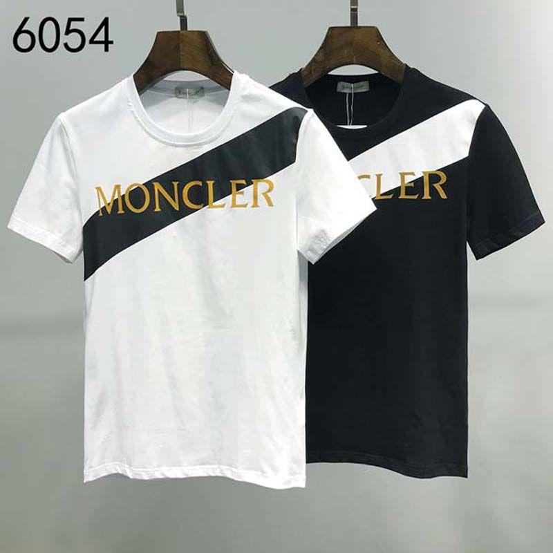 2020ss primavera y el nuevo algodón de alto grado verano impresión de manga corta ronda panel de cuello de la camiseta Tamaño: xxs m-l-XL-XXL-XXXL