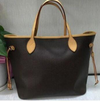 AVRUPA MODA Yepyeni En kaliteli bayan çantası ile Gerçek Deri 32cm 40cm alışveriş çanta omuz çantası taşımak çanta
