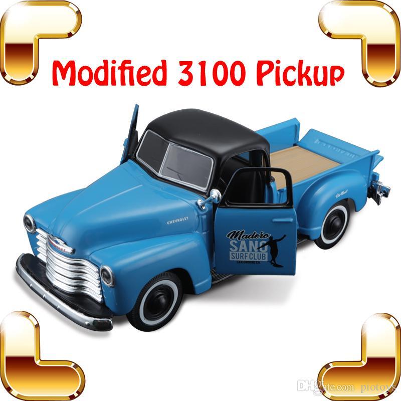 هدية خاصة 3100 بيك اب 1/24 نموذج سيارة معدنية مجموعة قوية دييكاست منزل الديكور اللعب سبيكة سيارة هدية عيد ميلاد