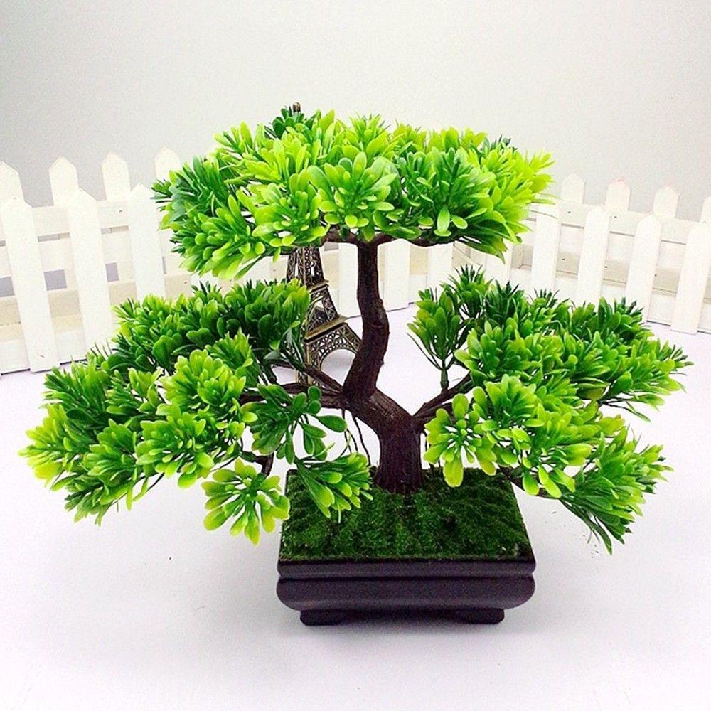 2021 Artificial Bonsai Tree Simulation Plants For Aquarium Green Plastic Plant Pine Home Garden Decoration From Zhexie 22 6 Dhgate Com