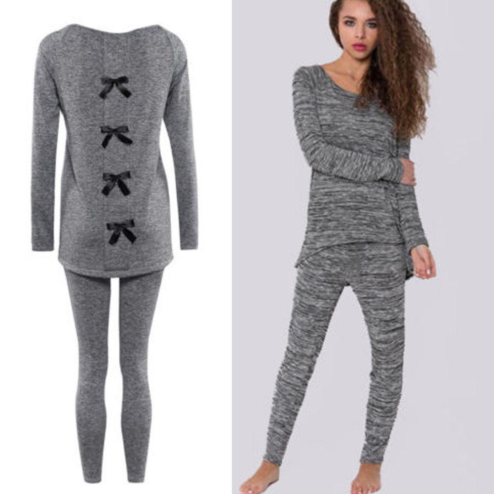 Hirigin المرأة بنات القطن ملابس خاصة طويلة الأكمام منامة مجموعات نوم الرئيسية البدلة USA