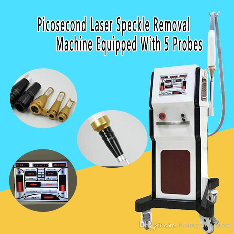 High Profile Version !!! Pico Laser Portable Q Switch ND YAG Haser Removal Scars Tattoo Remove Picosecond Machine Equipped With 5 Probes CE