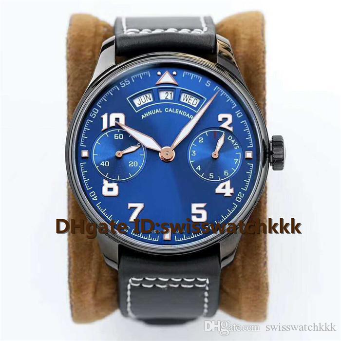 Venda quente Relógios De Pulso Suíça 52850 Data Automática semana mês Reserva de energia Display Sapphire Cristal 316L Caixa De Aço pulseira de couro de bezerro Mens Watch
