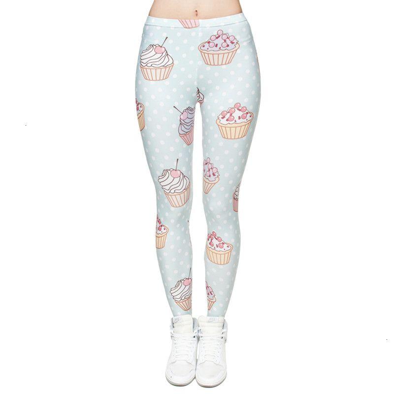 Womens polainas polainas de las mujeres elásticos del mollete de puntos de impresión en 3D pantalones de fitness Legging delgado de cintura alta legins las mujeres ocasionales de los pantalones