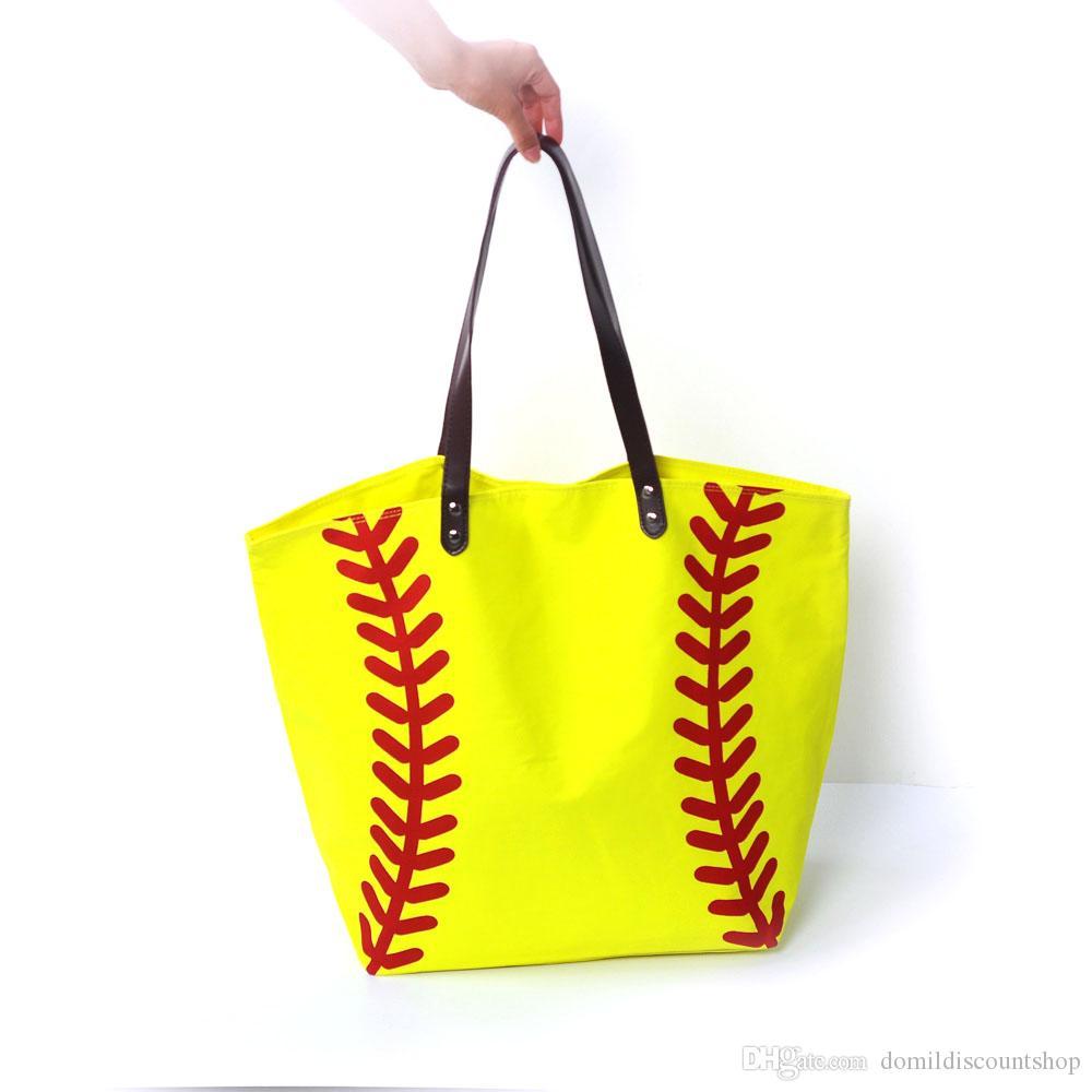 Banchi all'ingrosso Blanks Ball Bag Softball Sports Borse da calcio Bande da baseball con Cotone Soccer Hasps Chiusura TOTE DOM10 QKJSD