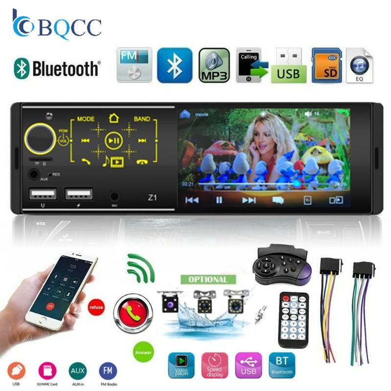 1DIN Autoradio 터치 스크린 듀얼 USB Bildschirmanzeige 블루투스 USB의 SD TF AUX MP5 플레이어 + Kamera 자동차