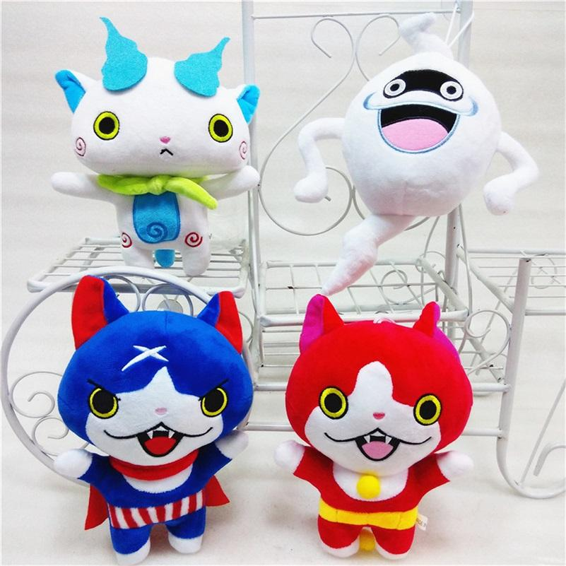 juguetes de felpa 20cm Japón Yokai reloj Red Cat KOMA SAN Nyan Whisper Youkai reloj de juguete de felpa suave de la muñeca de los niños juguetes regalos de la Navidad