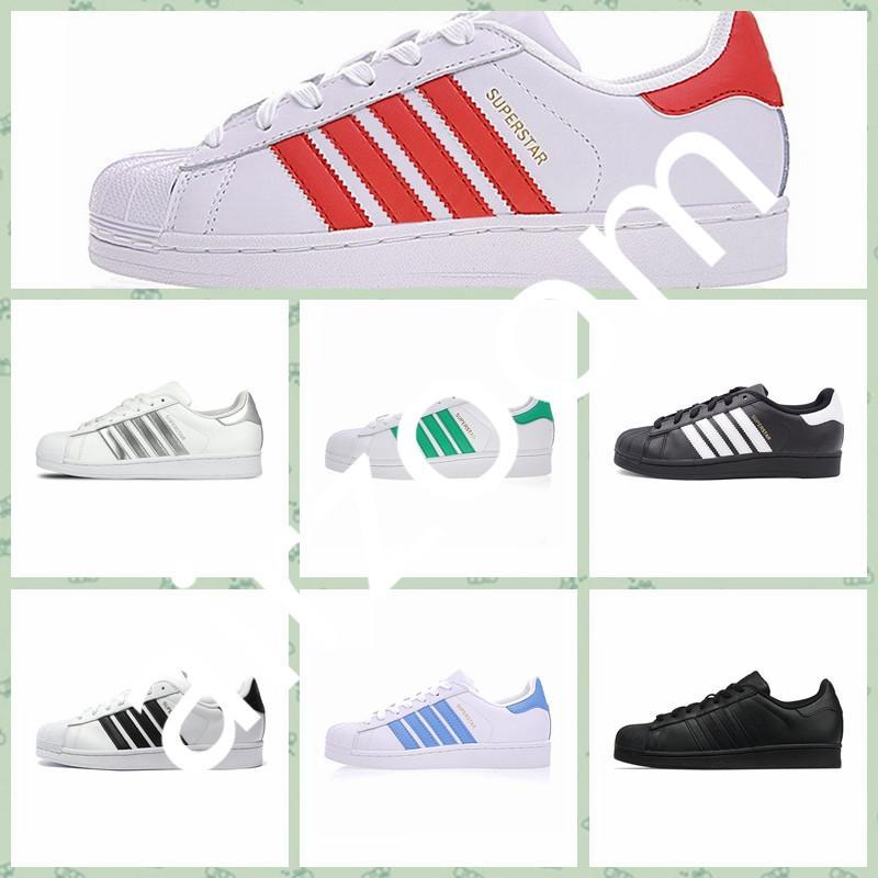 Adidas Originals Superstar 2020 Sıcak Satış kaliteli Kadınlar Erkekler Superstars Altın Hologram Genç Originals Superstars Süper Star Ayakkabı size36-45 Koşu Ayakkabıları