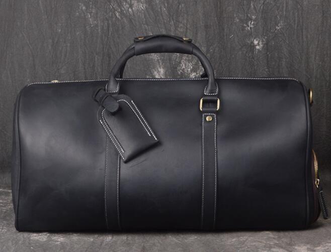 50 55 centimetri confezioni esterne calde Duffel donne del cuoio genuino e borse da uomo VIAGGIO borsone sacchetto dei bagagli