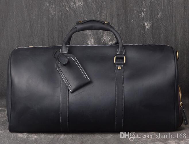 50 Packungen Hot Outdoor Duffle Original Bag Tasche Gepäck und 55 cm Taschen Reise Leder Herren Damen Duffel Lulmc