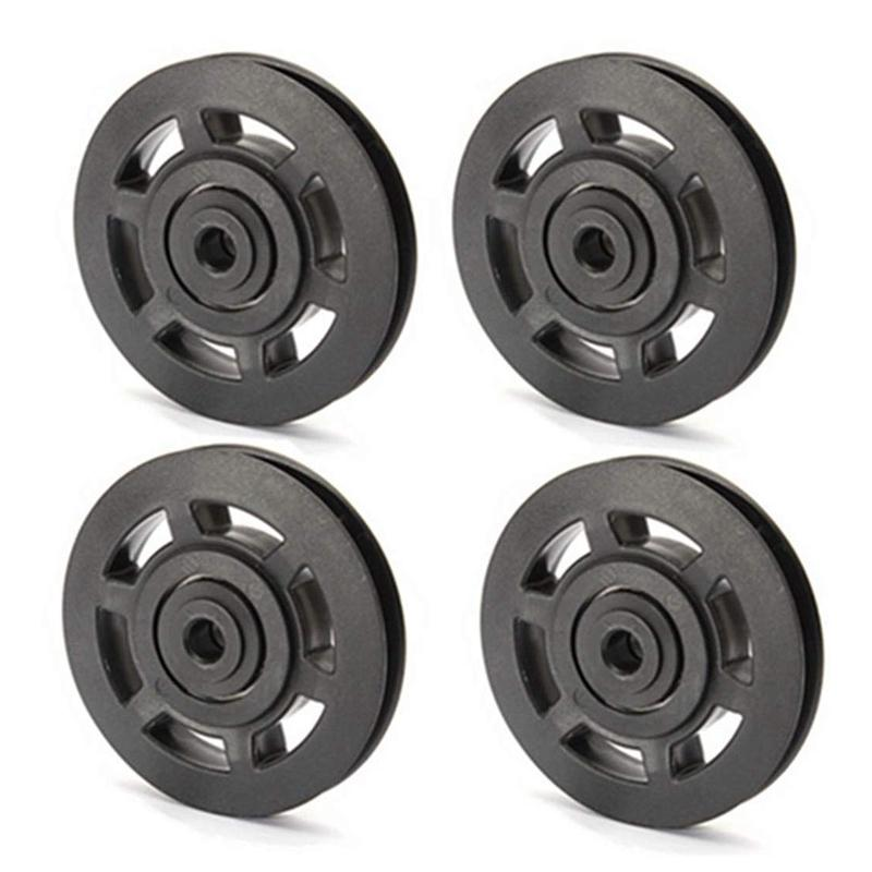 4Pcs 95mm Universal Bearing Pulley Wheel Cable Fitness Equipments Accessories Gym Equipment Part Wearproof Tool with Long Servic