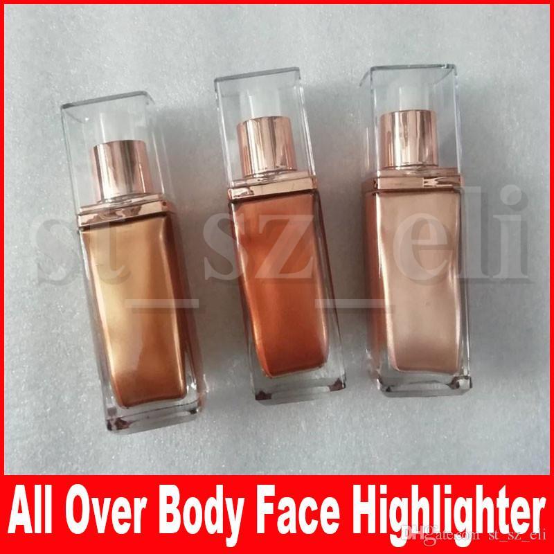 Belleza 3 colores Maquillaje facial N.Y.M.P.H Todo el cuerpo Liquid Highlighter Bronceadores de larga duración Resaltadores Glow Aphoradite Aurora
