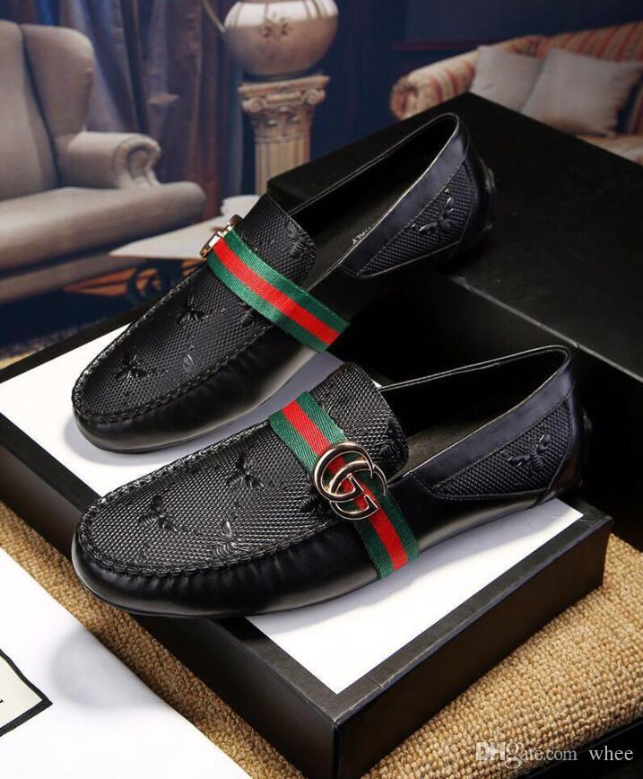 New fashion crocodile flat casual shoes classic male model leisure shoes classic driving business dress shoes mens 38-44