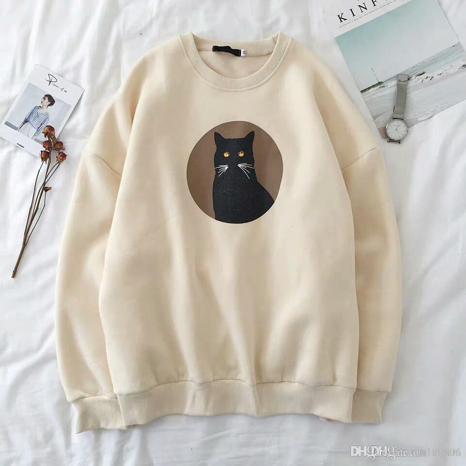 긴 소매 T 셔츠 여성 학생 타이드 브랜드 네트워크 레드 스웨터 힙합 느슨한 한국어 버전 캐주얼 최고