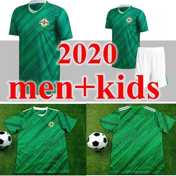 حجم كبير نوعية التايلاندية 2020 2021 2020 أيرلندا الشمالية أيرلندا الشمالية لكرة القدم الفانيلة المنزل EVANS لويس MAN KIDS قمصان كرة القدم