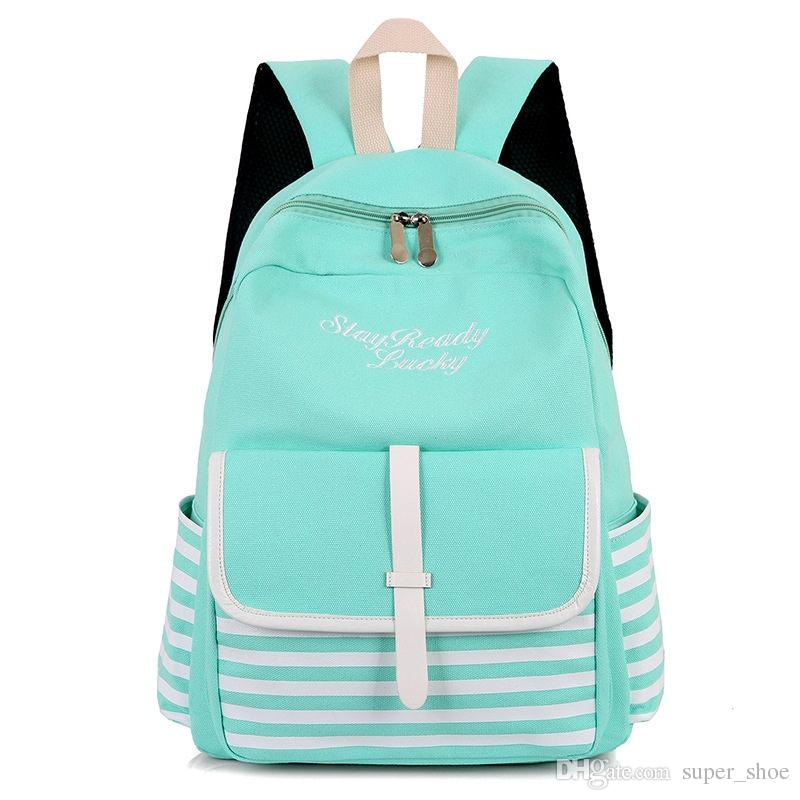 Fashion School Backpacks for Teenage Girls Canvas Women Laptop Back Pack Female Cute Japan and Korean Style Backpack Travel Bags #193280