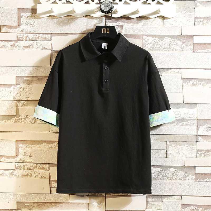 여름 패션 하라주쿠 남성 T 셔츠 100 % 코튼 티셔츠 한국 캐주얼 느슨한 짧은 소매 대형 화이트 블랙 T 셔츠 탑