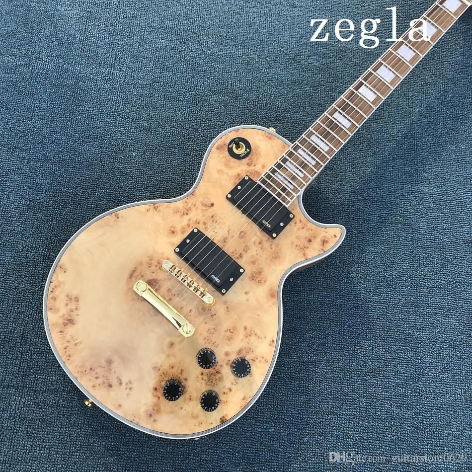 Custom Shop Электрогитара Электрогитара с корнем клена, Натуральная гитара из Китая Бесплатная доставка