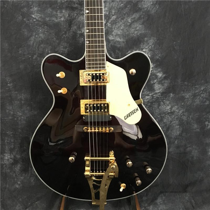 New Custom chitarra elettrica, chitarra elettrica jazz, vino rosso Hollow Jazz Guitar, chitarra vera Foto un'offerta personalizzata
