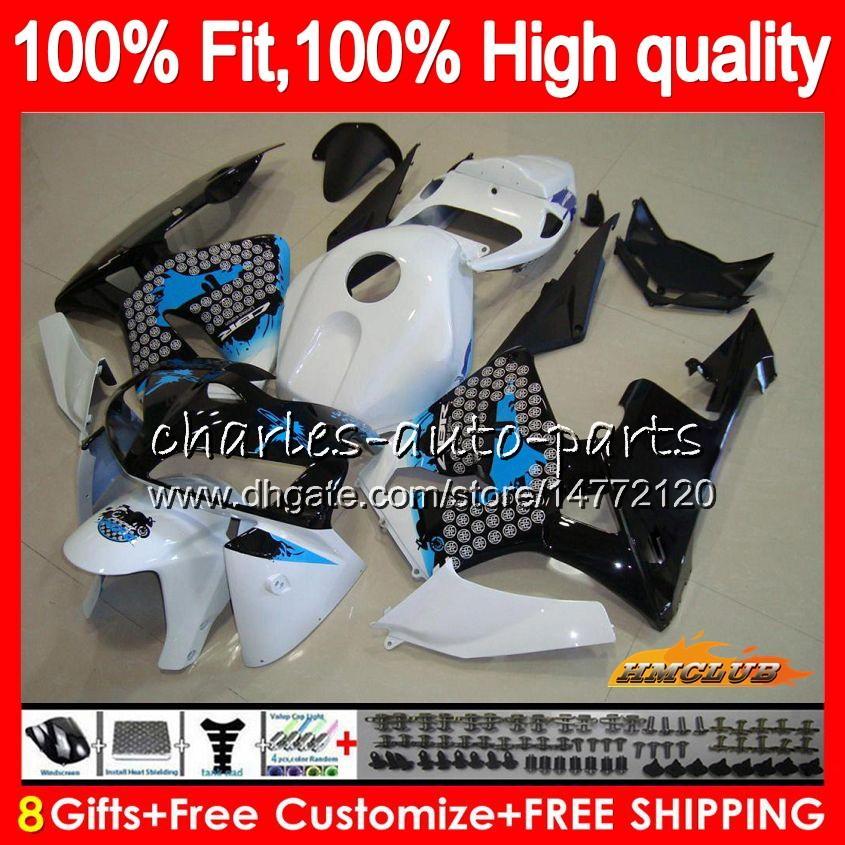 molde de injeção para Honda CBR600RR CBR600 RR 2005 2006 80HC.23 Graffiti azul CBR600F5 CBR 600RR 600F5 05 06 CBR 600 RR F5 05 06 Fairing OEM