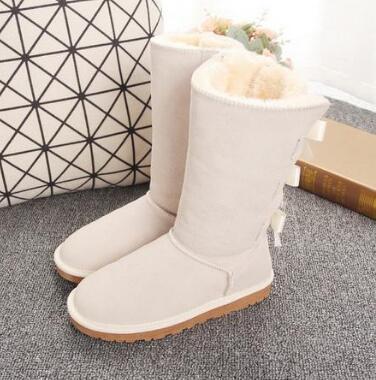 Novo 7803 Botas de Designer Mulheres Menina Clássico Luxo Botas de Neve Bowtie Metade Bow Boot Boot Winter Black Chestnut