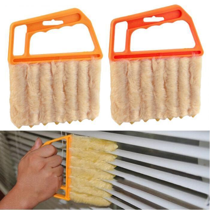 Útil Cleaner microfibra janela limpeza Escovas Air Conditioner Duster com lavável persiana da escova 200pcs Cleaner CCA12405
