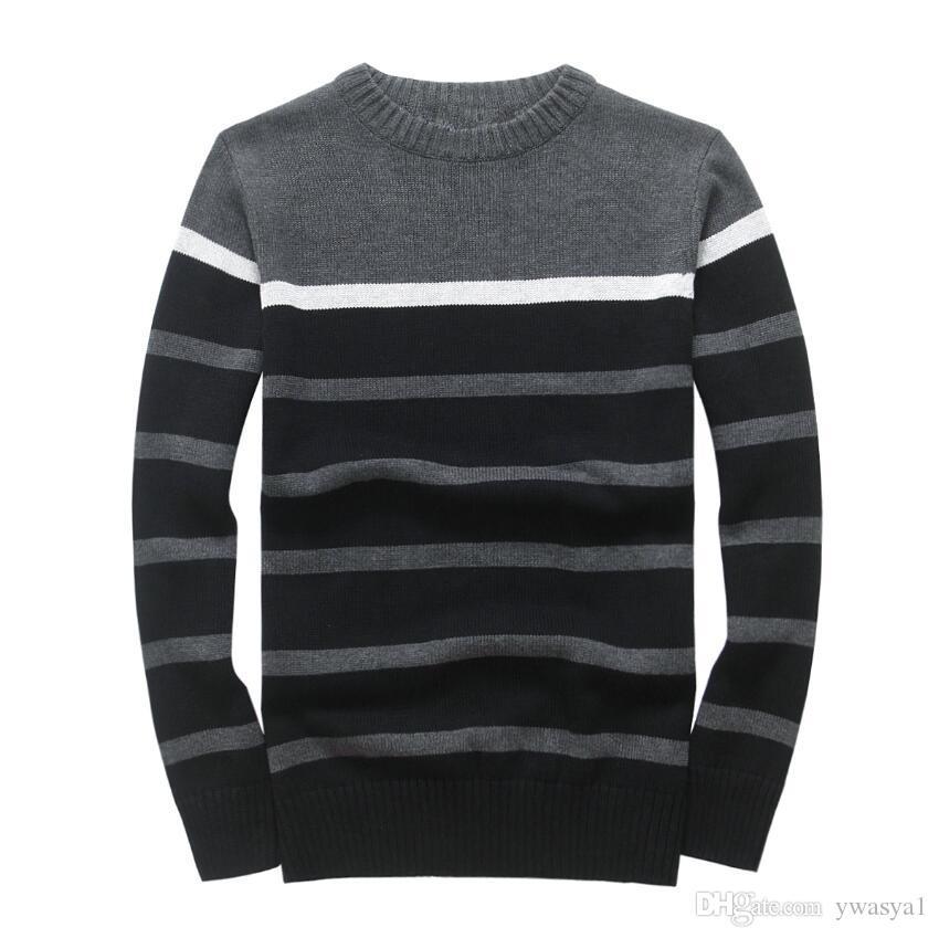 2019 New PP22569 Spring Brand Mens вскользь хлопка свитера пуловеры мужчин O-образным вырезом свитера осень Мужской Твердая Вязание одежды
