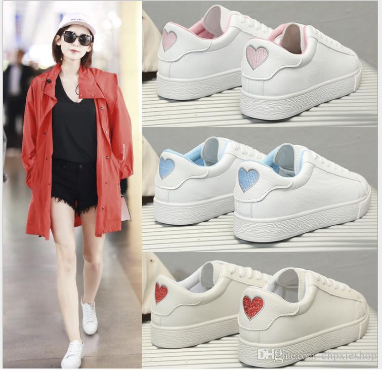 versione coreana delle scarpe sportive sottili piccole scarpe bianche Studenti