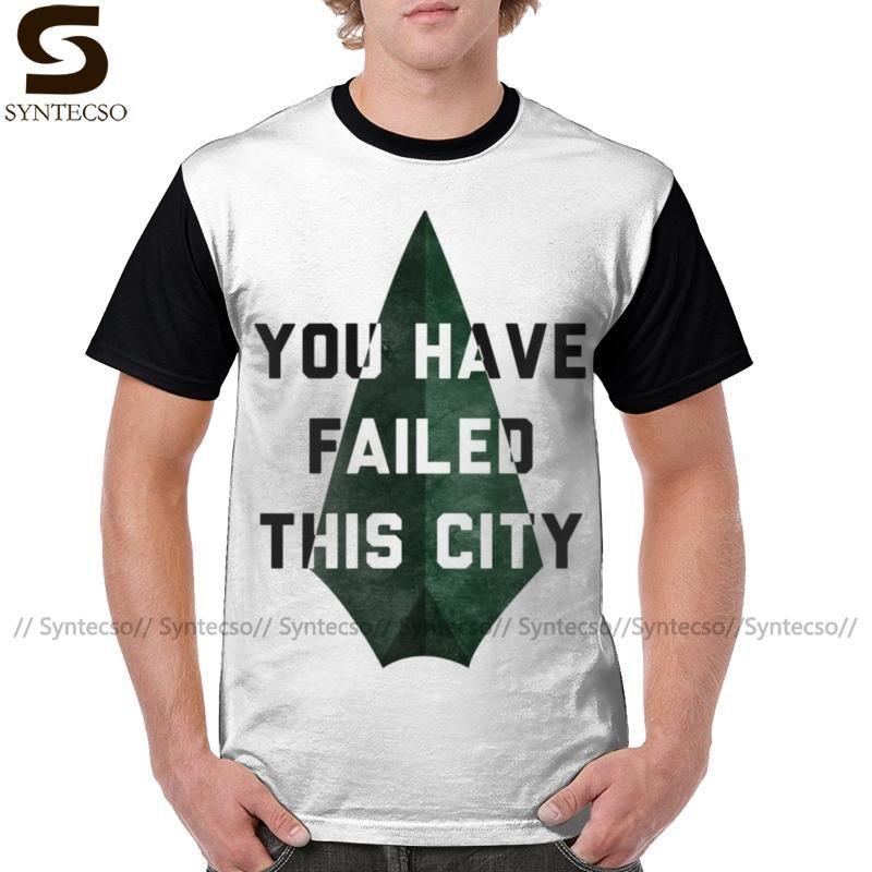Flecha Verde camiseta te han fallado Esta Ciudad camiseta de la flecha para hombre de la obra clásica del gráfico camiseta