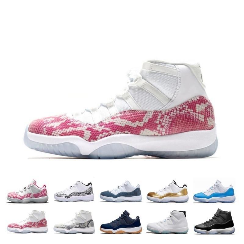 Vente Hot 11 11s chapeau et robe de bal de nuit Hommes Chaussures de basket-ball Platinum Tint Gym Red Bred Prm Héritière Barons Concord Cérémonie de clôture Sneaker
