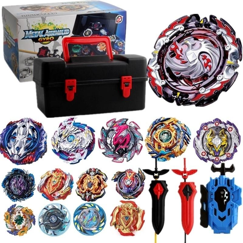 Tops Set Launchers Beyblade Toys B-131 B-122 B-130 Toupie Metal God Burst Spinning Top Bey Blades Toy bay Blade bablesMX190923