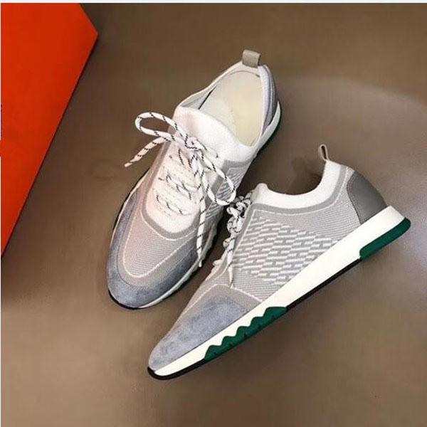 Hermes 2020 neue H Sneakers Top Kuhfell Mode für Männer bequeme beiläufige flache Schuhe hohe Schuhe RD SXC04
