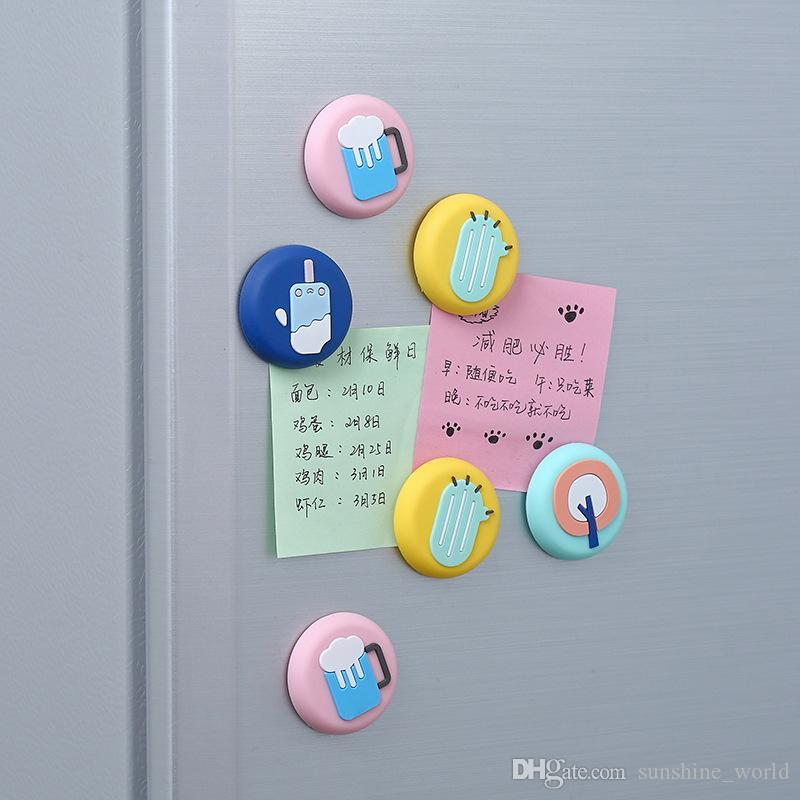 Pegatinas magnéticas Refrigerador para el hogar Mensaje lindo Imán Pegatinas de dibujos animados Personalidad sin fisuras Memo decorativo OEGJF