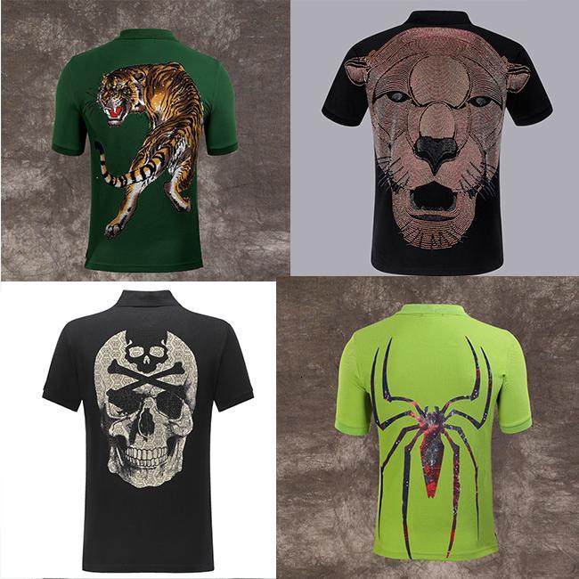 HOT PP Polo chemises vêtements de créateur de mode homme tigre marque manches courtes crâne calssic luxe t-shirt de haute qualité 4OT8 Casual te