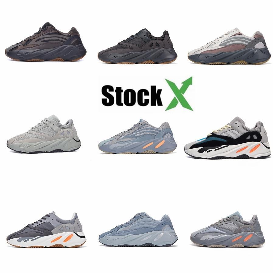 Desiner Calzado casual Kanye West Wave Runner 700 Ejecución de Seankers Calzado deportivo Hombres Mujeres sólido Zapatos Gris Negro tiza Core Sport T3.0 # DSK276