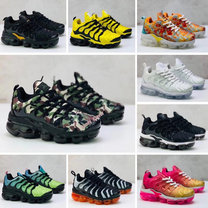 TN Plus De plus Tn enfants infantile Courir chaussures Triple Noir New Born Baby Bambins Enfants Garçons Filles Chaussures de sport Formateurs d'âge préscolaire