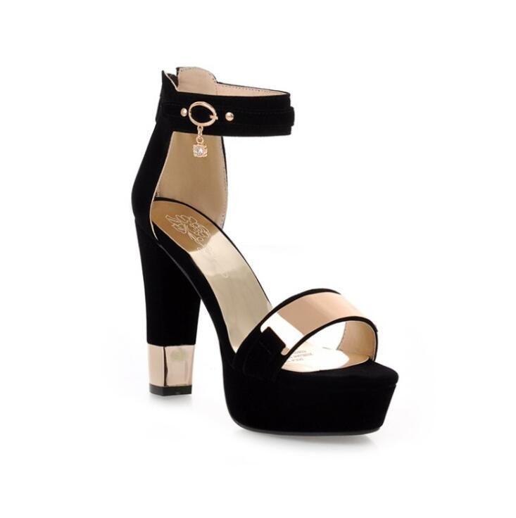 sandales talons hauts carres plateforme