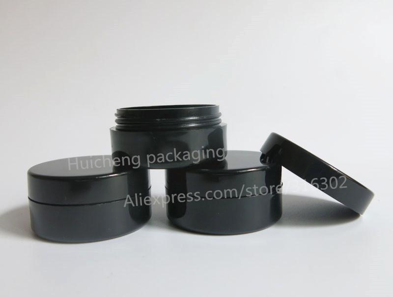 10G черный пластик крем банку пластмассовую банку 10 кубовый черный крем для глаз бутылки косметические/макияж фляги