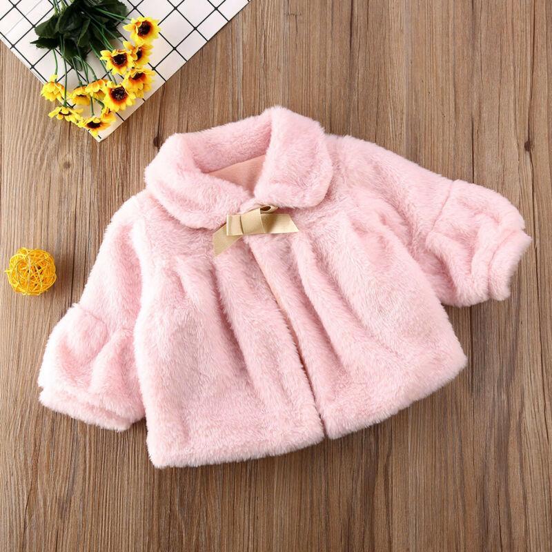 Toddler Girl Winter Warm Outwear Cloak Baby Long Sleeve Jacket Fleece Coat Dress
