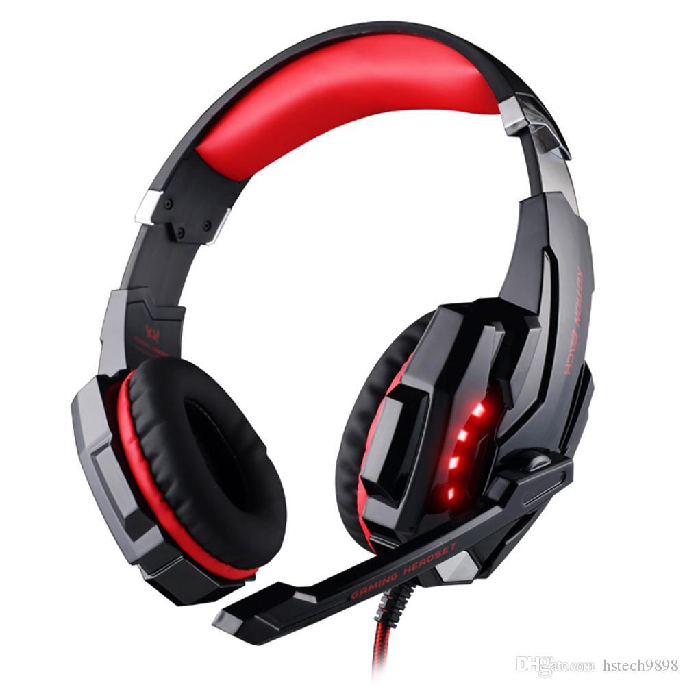 مراجعة جيدة G9000 KOTION كل لعبة قمار سماعة PS4 سماعة الألعاب سماعة مع هيئة التصنيع العسكري ميكروفون لأجهزة الكمبيوتر المحمول بلاي ستيشن 4 PS4 لعبة