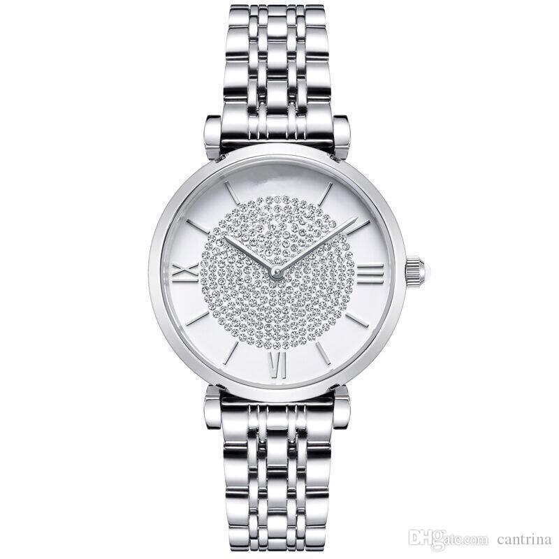 2021 Neue Drop Shipping Frauen Watch AR1907 AR1908 AR1909 AR1925 AR1926 Quarzuhren Edelstahl Diamantuhr Mode Armbanduhren