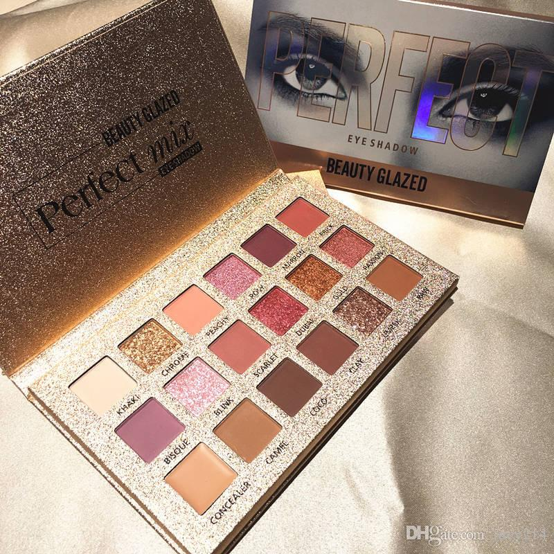 Beauty originale Glazed eye shadow palette perfect 18 Colors makeup eyeshadow Ultra shimmer altamente pigmentato Eyeshadow nude Pro Eyes Cosmetic