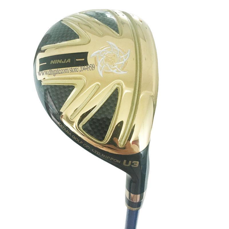 Nuova Golf Club KATANA NINJA Golf Ibridi legno 19 o 22 25Loft club Pozzo della grafite L Golf Shaft e legno headcover libero di trasporto