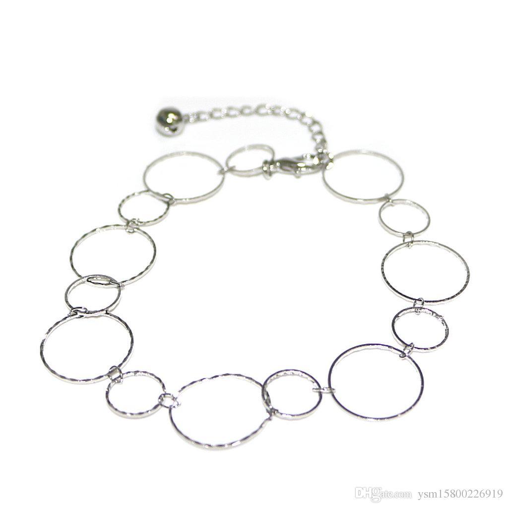 Внешняя торговля простой Новый пляж дамы ножной браслет аксессуары металлические цепи тенденции моды кольцо женские ноги голые цепи 5 шт.